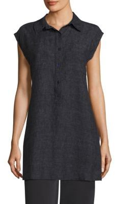 Eileen Fisher Long Organic Linen Tunic $248 thestylecure.com