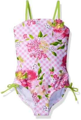 Kate Mack Little Girls' Gingham Garland Tank Swimsuit