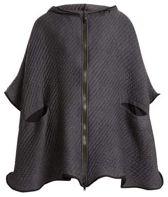 Charli Cohen - On The Qt Quilted Wool Blend Poncho - Womens - Grey