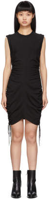 Alexander Wang Black Wash and Go Side Tie Dress