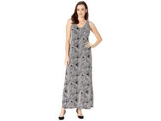 Karen Kane Leaf Print Maxi Dress