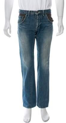 Lanvin Distressed Straight-Leg Jeans blue Distressed Straight-Leg Jeans