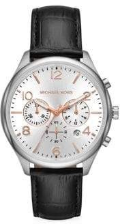 Michael Kors Merrick Chronograph Leather Watch