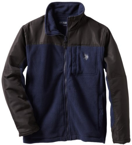 U.S. Polo Assn. U.S. Polo Association Boys 8-20 Polar Fleece Jacket With Taslan Trim