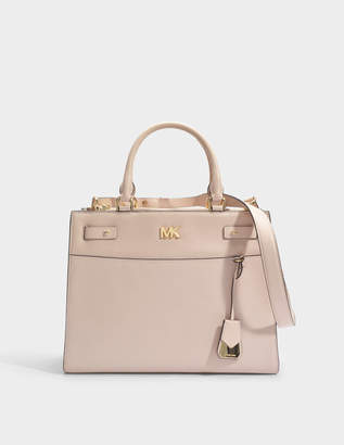 MICHAEL Michael Kors Mott Uptown Large Satchel Bag in Soft Pink Small Pebble Leather