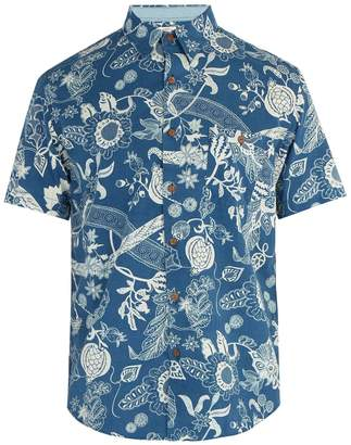 Faherty Coast Kenji floral-print shirt