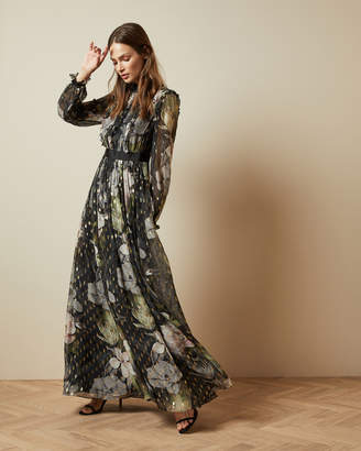 Ted Baker HUNNIE Opal printed long sleeved maxi dress