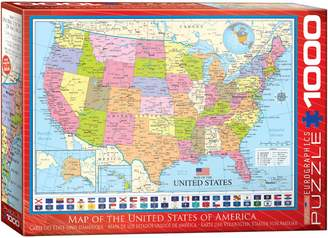 Eurographics Map of the USA 1000-Piece Jigsaw Puzzle Set