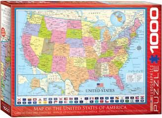 Eurographics Map of the USA 1000-Piece Jigsaw Puzzle Set
