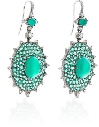 Nam Cho 18K Gold Multi-Stone Earrings
