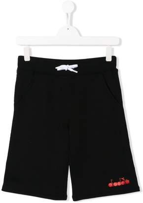 Diadora Junior logo tape shorts