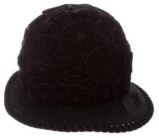 Philip Treacy Embellished Wool Hat