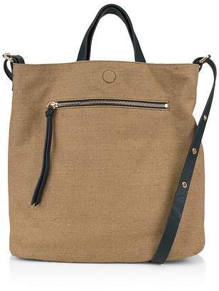 Kooba Bolivia Reversible Leather & Linen Tote