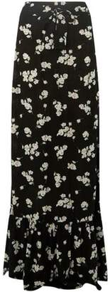 Dorothy Perkins Womens **Tall Black Floral Ditsy Print Tiered Maxi Skirt