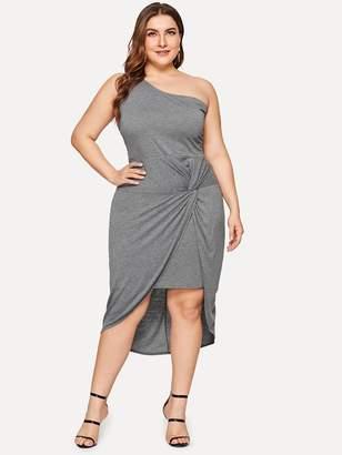 Shein Plus Asymmetrical Hem Twist Dress
