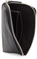 Neiman Marcus Small Leather Zip-Around Wallet