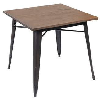 Generic Dinning Metal Table with Elm Wood top, 3066PB, Multiple Colors