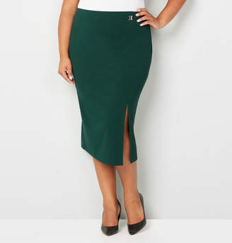 Avenue Side Slit Buckle Skirt