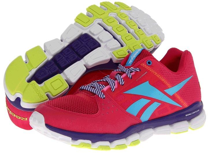 Reebok Kids - Realflex Transition 4.0 (Big Kid) (Pink/Ultra Violet/Blue/Yellow/White) - Footwear