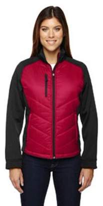Ash City - North End Sport Red Ladies' Epic Insulated Hybrid Bonded Fleece Jacket