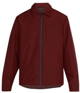 Prada - Padded Zip Up Jacket - Mens - Burgundy