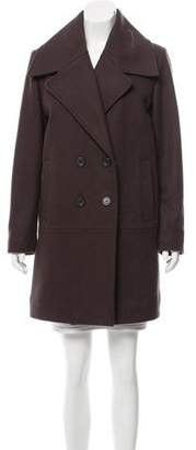Andrew Marc Double-Breasted Knee-Length Coat