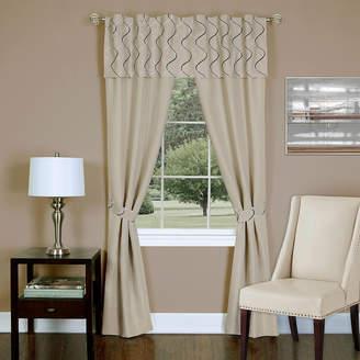 Asstd National Brand Trellis 5-Piece Rod-Pocket Curtain Panel