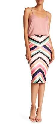 ECI V Stripe Midi Skirt