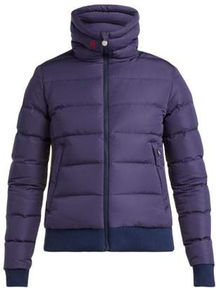 Perfect Moment Super Star Quilted Down Filled Jacket - Womens - Navy Multi