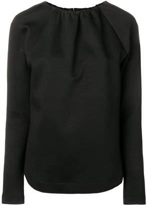 Jil Sander Navy gathered neckline blouse