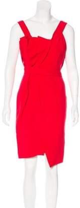 Fendi Silk & Wool-Blend Sheath Dress Red Silk & Wool-Blend Sheath Dress