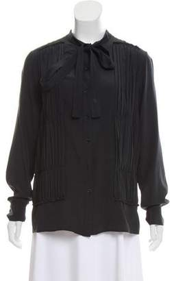 Rochas Silk Button-Up Top