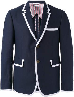 Thom Browne contrast detail blazer