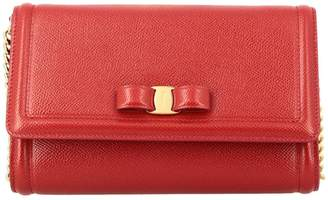 Salvatore Ferragamo Mini Bag Vara Bag In Score Leather With Bow
