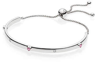Pandora Explosion Of Love Bracelet - Silicone / Sterling Silver / Pink