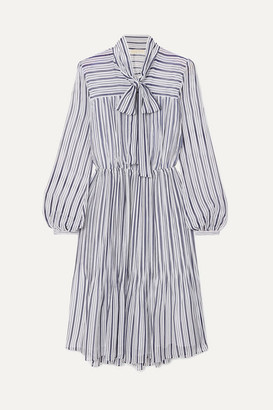 MICHAEL Michael Kors Carolina Striped Gauze Midi Dress