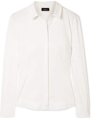 Akris Cotton-blend Poplin Shirt - Off-white