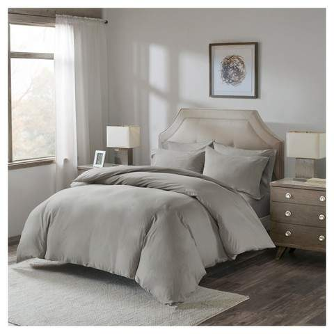 Luxury Cotton Percale Duvet Cover Set with Fitted Sheet
