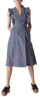 Whistles Misha Chambray Wrap Dress