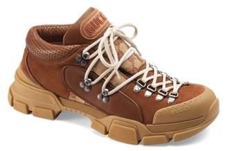 Gucci Leather & Original GG Trekking Boot