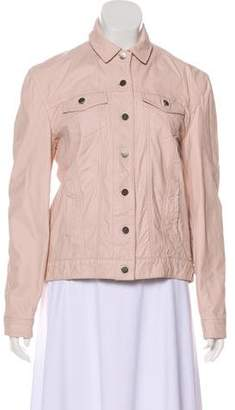 ATM Leather Button-Up Jacket w/ Tags