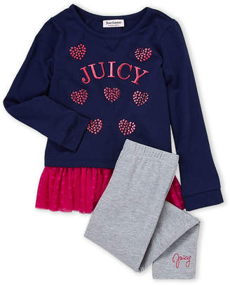 Juicy Couture Girls 4-6x) Two-Piece Tulle Tee & Legging Set
