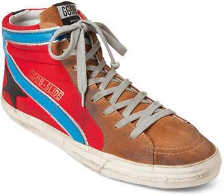Golden Goose Red Slide High-Top Sneakers