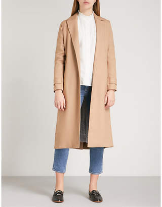 Maje Gumpy pleated-back woven trench coat