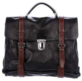 Prada Nappa Glace Folding Briefcase