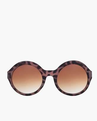 Round Leopard-Print Sunglasses