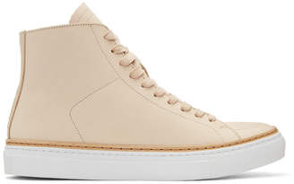 No.288 Beige Mulberry High-Top Sneakers