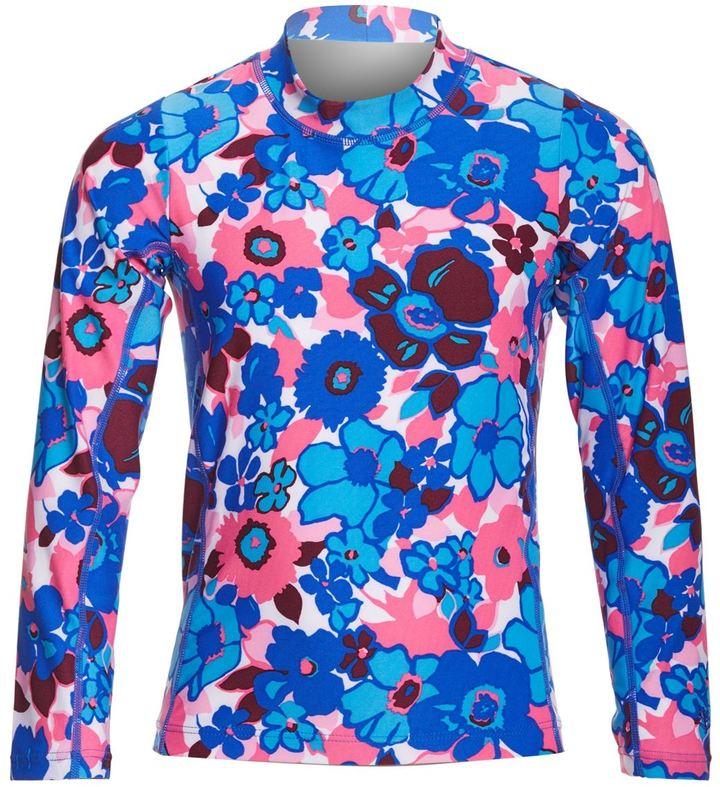 Coolibar Girls' UPF 50+ Printed Long Sleeve Surf Shirt (412) - 8152439