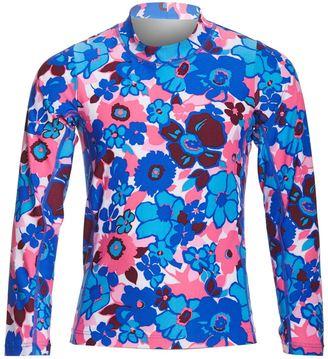 Coolibar Girls' UPF 50+ Printed Long Sleeve Surf Shirt (412) - 8152439 $34 thestylecure.com