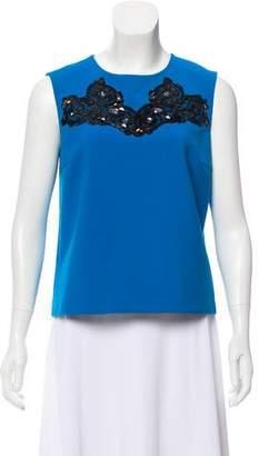 Diane von Furstenberg Sleeveless Embellished Top